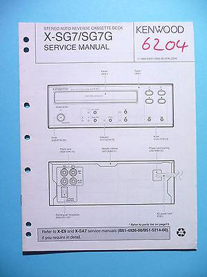 Aus Dem Ausland Importiert Service Manual-anleitung Für Kenwood X-sg7 ,original
