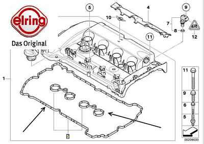 Mini Cooper S R56 R55 JCW R57 Conv Clubman Set of Valve Cover Gasket Reinz NEW