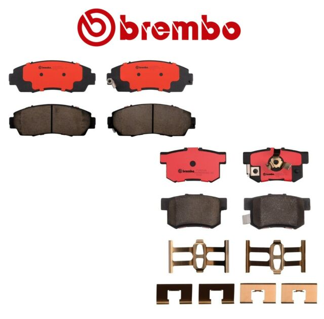New Pair Set Of Front And Rear Disc Brake Pads Brembo FOR