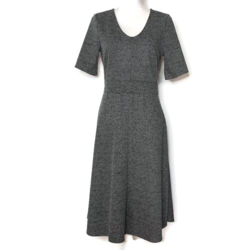 H&M Retro VTG 40s 50s Inspired Dress Gray Unlined… - image 1
