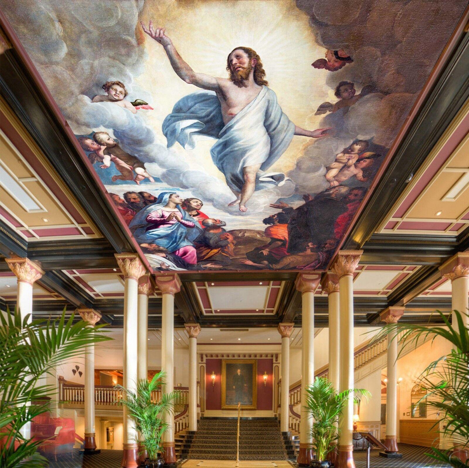 3D God And People World 886 Wallpaper Mural Wall Print Wall Wallpaper Murals US