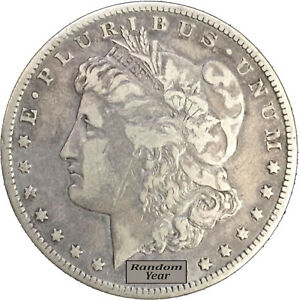Random-Year-1878-1904-1-Morgan-Silver-Dollar-VG-to-F