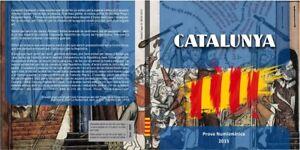Cartera-Set-monedas-euro-en-prueba-Cataluna-2015-8-monedas-Catalunya-coins-trial