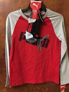 6e9e3908a5af Boys Puma Long Sleeve T-shirt with One Pair Low Cut Socks - 2 Piece ...