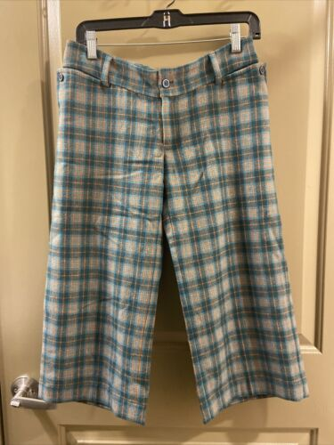 Penguin Wool Green Plaid Pants Sz 0 (item 9.8) - image 1