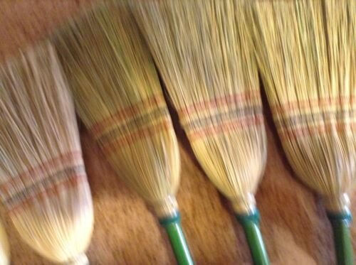 Green Handle Child Size Broom Really Works Fun Great For Dress UpTeaching Chores