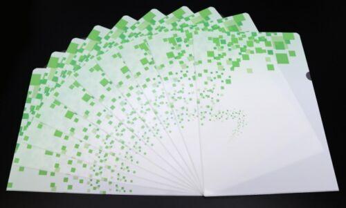 Aktenhüllen grün 10er-Pack DIN A4 Sichthüllen Aktenecken Folie Mappe Hülle Neu
