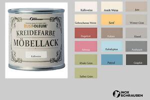 16 Farben Rust Oleum Kreidefarbe Möbellack Chalky Chic Marabu Shabby