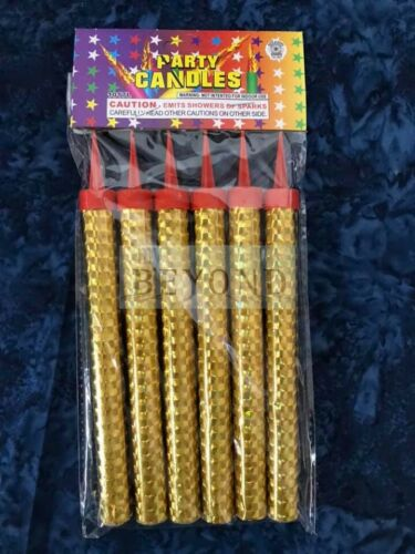 """Birthday Wedding Bottle 7/"""" Large Party Gold Sparkle Candle Cake Candles 30 COUNT"""