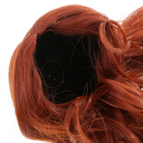 Fashion Doll Long Curly Wavy Hair Wig Hairpiece for 1//6 12/'/' Blythe Doll Cosplay