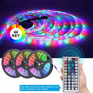 15M//10M//5M 3528 RGB LED Flexible Strip Light Color Changing 12V Power Supply Set