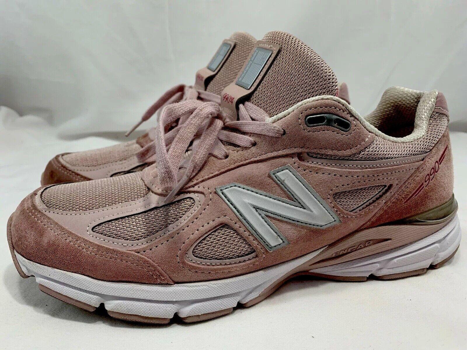 New Balance 990 V4 Pink Men's Running Dad shoes Sz 9.5 Made USA Faded pink Komen