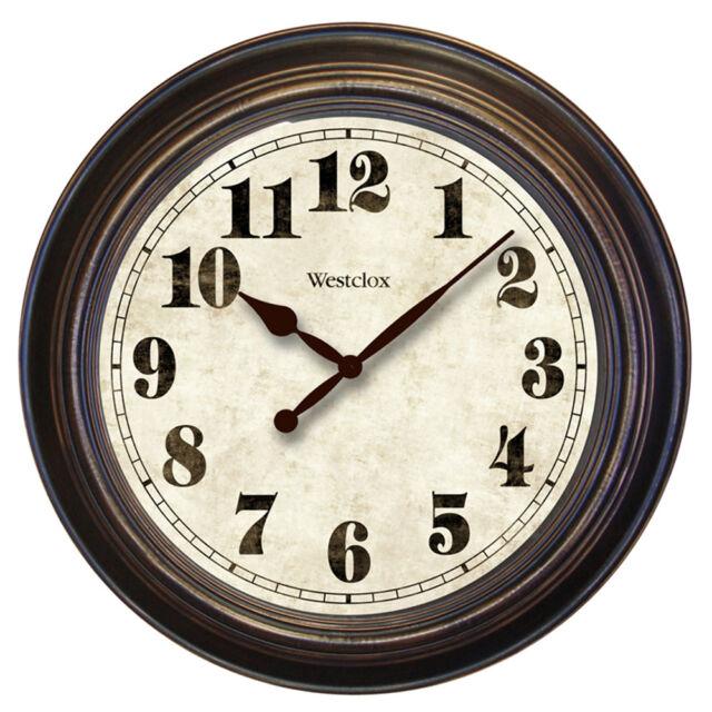 Non ticking  Ultra Quie Wine Barrel Lid Brown Wooden Wall Clock  Whisper Quiet