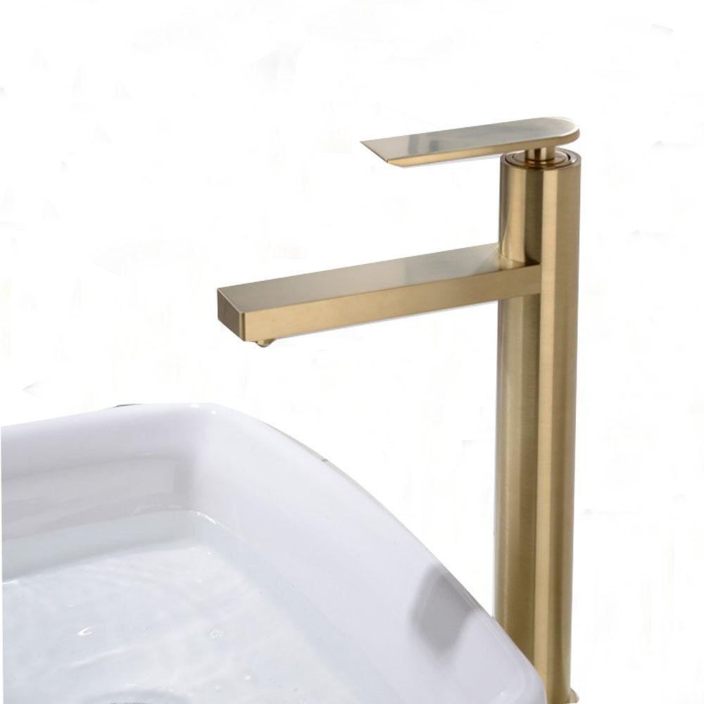 Or Brossé, Chrome, Noir mitigeur bain bassin évier Robinet simple poignées robinet b116