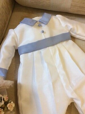 DEDICATION NAMING BOYS CHRISTENING GOWN BOYS OUTFIT BAPTSM ROMPER SUIT