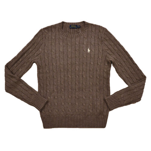 Ralph Lauren Polo Womens Long Sleeve Cable Knit Sweater Pullover Crew Neck NWT