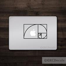 Fibonacci Spiral - Mac Apple Logo Cover Laptop Vinyl Decal Sticker Macbook Math