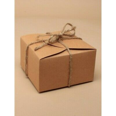 Pack Of 12 Small Square Natural Gift Boxes Wedding Favour Includes String Ebay