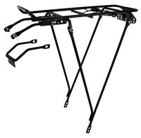 Bicycle Carrier Rack Bike Rear Mount Black Cycling Post Mountain Luggage Cargo