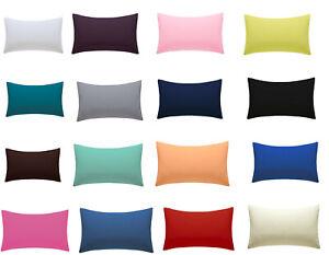 Amigozone-Plaine-Coton-Percale-Menagere-paire-de-taies-d-039-oreiller-19-couleurs