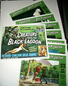 CREATURE-FROM-THE-BLACK-LAGOON-Set-8-Individual-11x14-LC-Reproductions