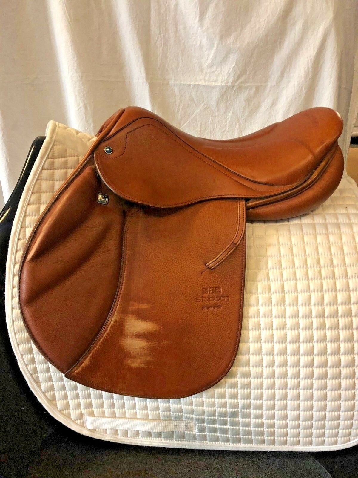 Used Stubben Zaria Deluxe with Biomex Jumping Saddle - Braun Größe 16.5'' - Braun - 82586a