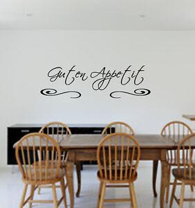 Details zu Wandtattoo Küche GUTEN APPETIT ,Esszimmer,Spruch für die  Wand,Sticker,Wallart