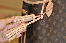 Mcraft vachetta leather double tassel bag Purse charm for neverfull Delightfull