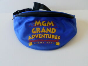 1abffa27f6b66 Details about MGM Grand Adventures Theme Park Throwback Zippered Waistpack  Fanny Pack Blue