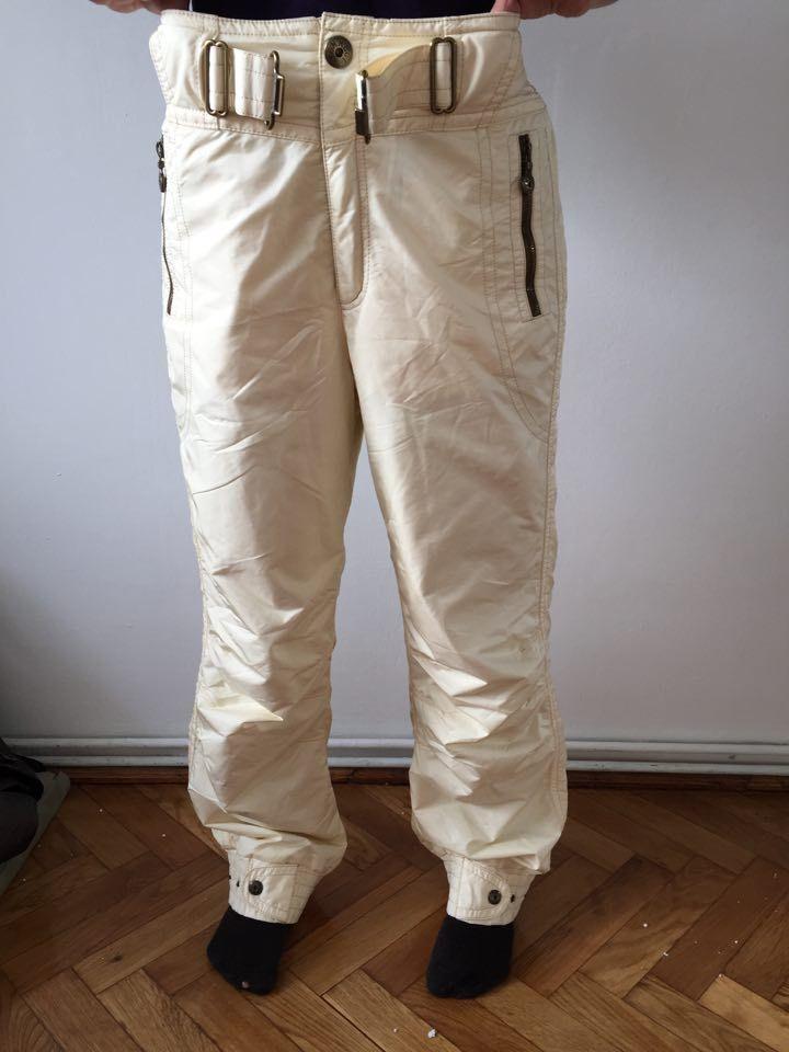 EMMEGI Women Designer Ski wear Pants High Quality Size Butter white color