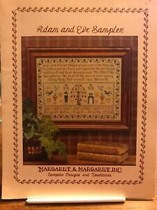 Margaret-amp-Margaret-ADAM-AND-EVE-Sampler-Cross-Stitch-PATTERN-Retired-God