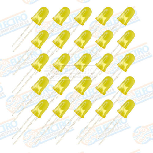 25x LED 5mm AMARILLO DIFUSO 20mA diodo diffuse diode yellow