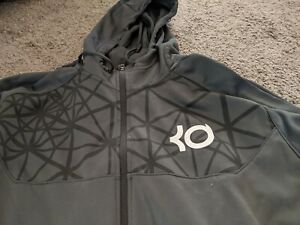 Nike-KD-Therma-Fit-Full-Zip-Up-Athletic-Hoodie-Men-039-s-Size-XL-Gray