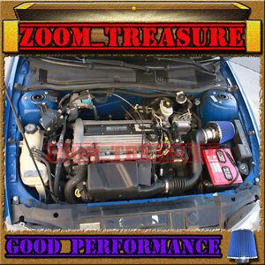 blue 2002 2005 02 05 chevy cavalier pontiac sunfire 2 2 2 2l ecotec air intake s ebay