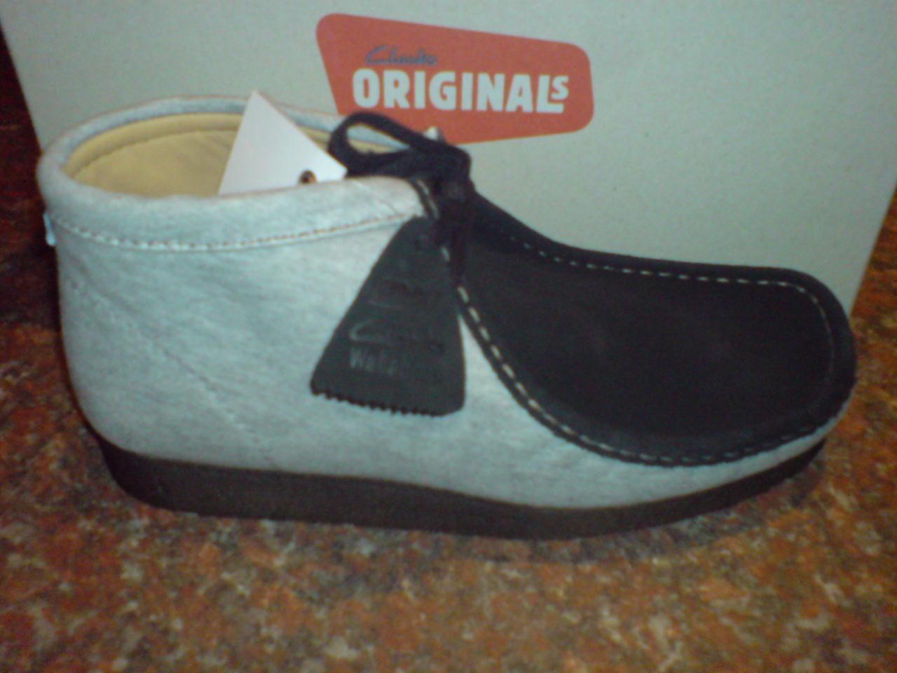 Clarks Originals   Uomo  WALLABEES  Originals Stiefel  GREY / BLACK  UK 7,7.5,8.5,10,11 c83110