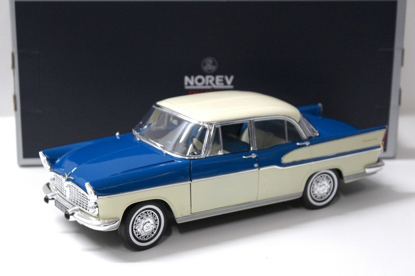 1 18 norev Simca Vedette Chambord 1960 azul beige beige beige New en Premium-modelcars 100255