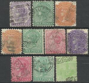 SOUTH-AUSTRALIA-Collection-Packet-of-10-Different-COLONIES-STATES-Stamps-Used