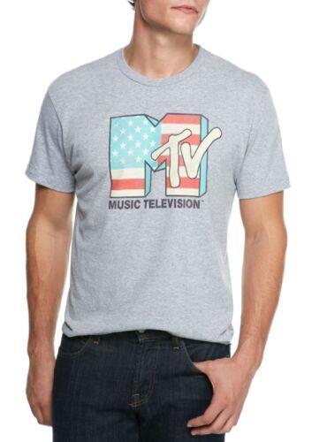 Large /& Medium Mens MTV American Flag Short Sleeve T-Shirt NWT