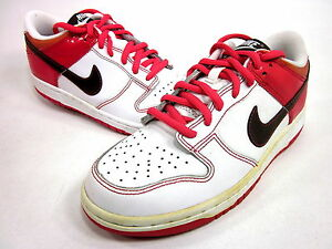 super cute a556f 81ec1 Image is loading NIKE-DUNK-LOW-GS-GIRLS-WHITE-BROWN-PINK-