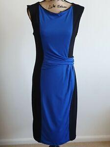 Liz-Jordan-Black-and-Blue-Dress-Women-s-Size-M