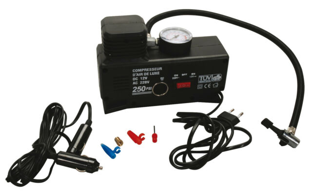 Kompressor Elektrische Luftpumpe Ballpumpe 220V & 12V 1xAdapter-Set 4 (650-06)