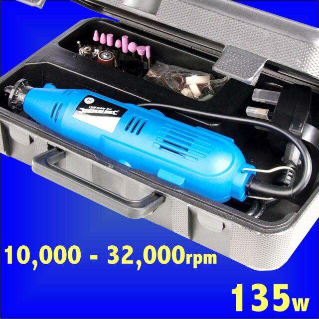 135w SILVERLINE HOBBY TOOL KIT rotary craft drill polish clean grind sand cut