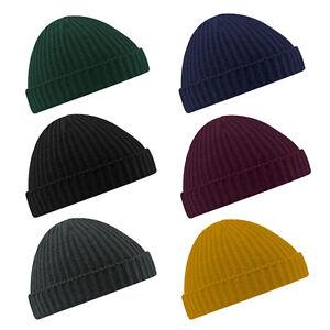 new Stylish Beanie Hat Warm Ribbed Winter Turn Ski Unisex Fisherman ... 50a43f33dfa