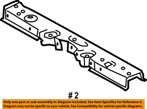 TOYOTA OEM 09-10 Corolla Radiator Core Support-Upper Tie Bar 5320502150