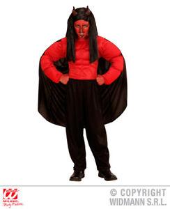Ragazzi Bambini Bambino Diavolo di Daemon Costume Halloween Completo 5-13 anni