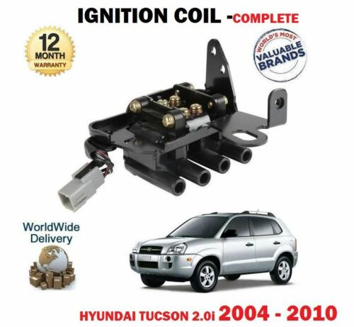 FOR HYUNDAI TUCSON 2.0i 2004-12//2010 IGNITION COIL PACK COMPLETE *OE QUALITY*