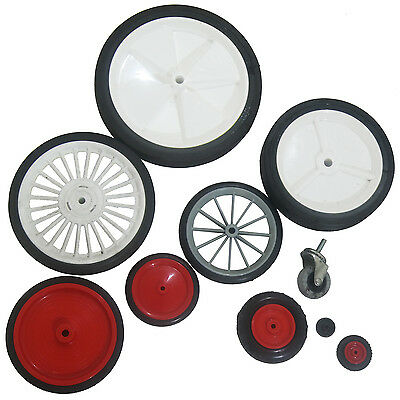 ASSORTED SPARE REPLACEMENT WHEELS RUBBER SOLID TRUCK TYRE GO CART BARROW TROLLEY