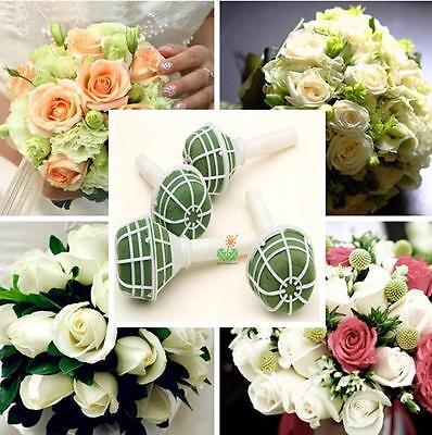 WO AU 1X Foam Bouquet Holder Handle Bridal Floral Wedding Flower DIY Decoration