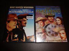 MACKENNA'S GOLD & THE GATLING GUN-2 movies-GREGORY PECK, OMAR SHARIF, PAT WAYNE