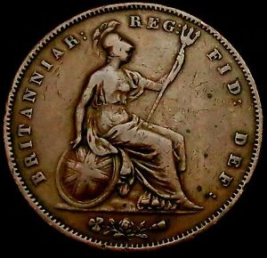 S878-1853-Queen-Victoria-Large-Copper-Penny